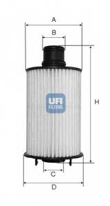 Фильтр масляный UFI 25.073.02 - изображение
