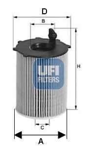 Фильтр масляный UFI 25.142.00 - изображение