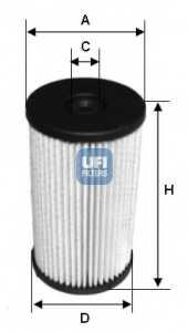 Фильтр топливный UFI 26.007.00 - изображение