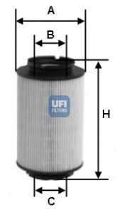 Фильтр топливный UFI 26.014.00 - изображение
