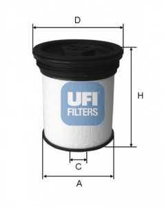 Фильтр топливный UFI 26.019.01 - изображение
