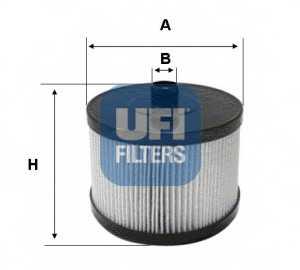 Фильтр топливный UFI 26.022.00 - изображение