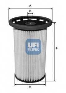 Фильтр топливный UFI 26.025.00 - изображение
