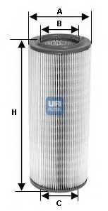 Фильтр воздушный UFI 27.195.00 - изображение