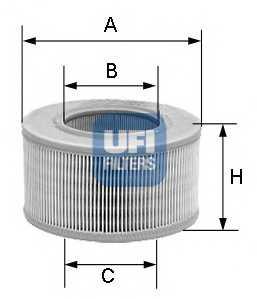 Фильтр воздушный UFI 27.239.00 - изображение