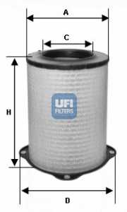 Фильтр воздушный UFI 27.587.00 - изображение