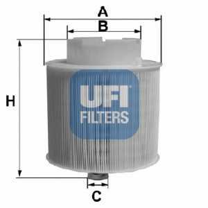 Фильтр воздушный UFI 27.598.00 - изображение