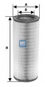 Фильтр воздушный UFI 27.603.00 - изображение
