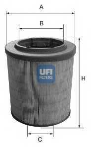 Фильтр воздушный UFI 27.628.00 - изображение