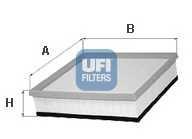 Фильтр воздушный UFI 30.254.00 - изображение