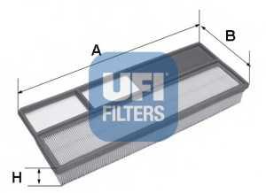 Фильтр воздушный UFI 30.265.00 - изображение