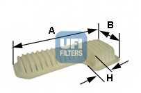Фильтр воздушный UFI 30.288.00 - изображение