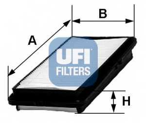 Фильтр воздушный UFI 30.380.00 - изображение