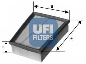 Фильтр воздушный UFI 30.417.00 - изображение