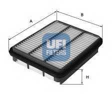 Фильтр воздушный UFI 30.454.00 - изображение