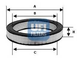 Фильтр воздушный UFI 30.802.01 - изображение