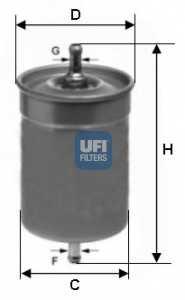 Фильтр топливный UFI 31.500.00 - изображение