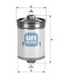 Фильтр топливный UFI 31.502.00 - изображение