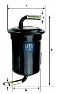 Фильтр топливный UFI 31.715.00 - изображение