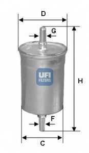 Фильтр топливный UFI 31.722.00 - изображение