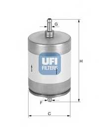 Фильтр топливный UFI 31.817.00 - изображение