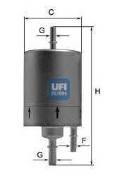 Фильтр топливный UFI 31.830.00 - изображение