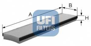 Фильтр салонный UFI 53.016.00 - изображение