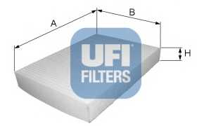 Фильтр салонный UFI 53.035.00 - изображение