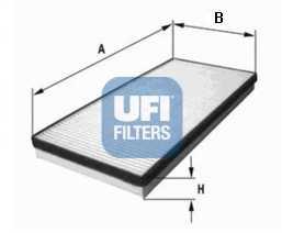Фильтр салонный UFI 53.075.00 - изображение