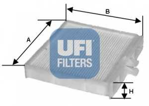 Фильтр салонный UFI 53.090.00 - изображение