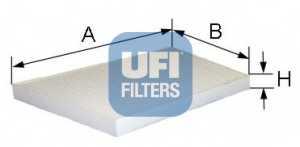 Фильтр салонный UFI 53.095.00 - изображение