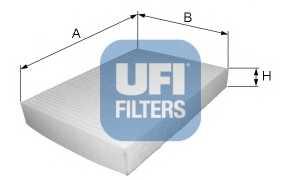 Фильтр салонный UFI 53.098.00 - изображение
