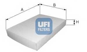 Фильтр салонный UFI 53.214.00 - изображение