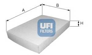 Фильтр салонный UFI 53.223.00 - изображение