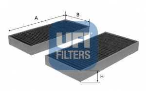 Фильтр салонный UFI 54.104.00 - изображение
