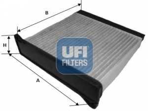 Фильтр салонный UFI 54.220.00 - изображение