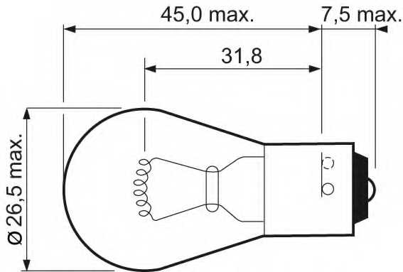 Лампа накаливания PY21W 12В 21Вт VALEO ESSENTIAL 032103 - изображение 1