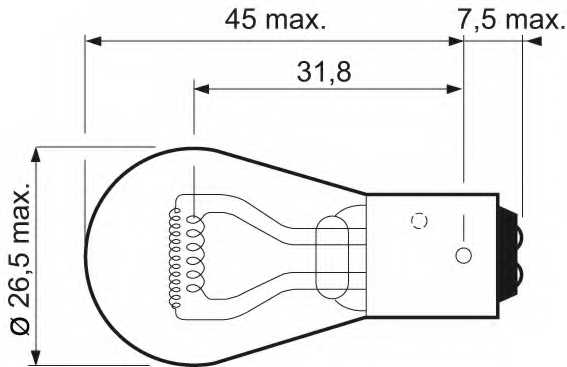 Лампа накаливания VALEO 32105 / 032105 - изображение 1