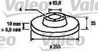 Тормозной диск VALEO 186425 - изображение
