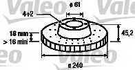 Тормозной диск VALEO 186482 - изображение