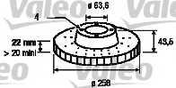 Тормозной диск VALEO 186560 - изображение