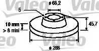 Тормозной диск VALEO 186624 - изображение