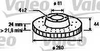 Тормозной диск VALEO 186655 - изображение