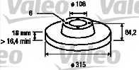 Тормозной диск VALEO 186691 - изображение