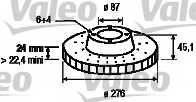Тормозной диск VALEO 186719 - изображение