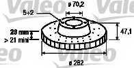 Тормозной диск VALEO 186778 - изображение