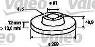 Тормозной диск VALEO 186802 - изображение