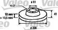 Тормозной диск VALEO 186803 - изображение