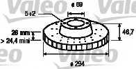 Тормозной диск VALEO 186824 - изображение