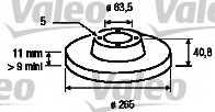 Тормозной диск VALEO 186842 - изображение